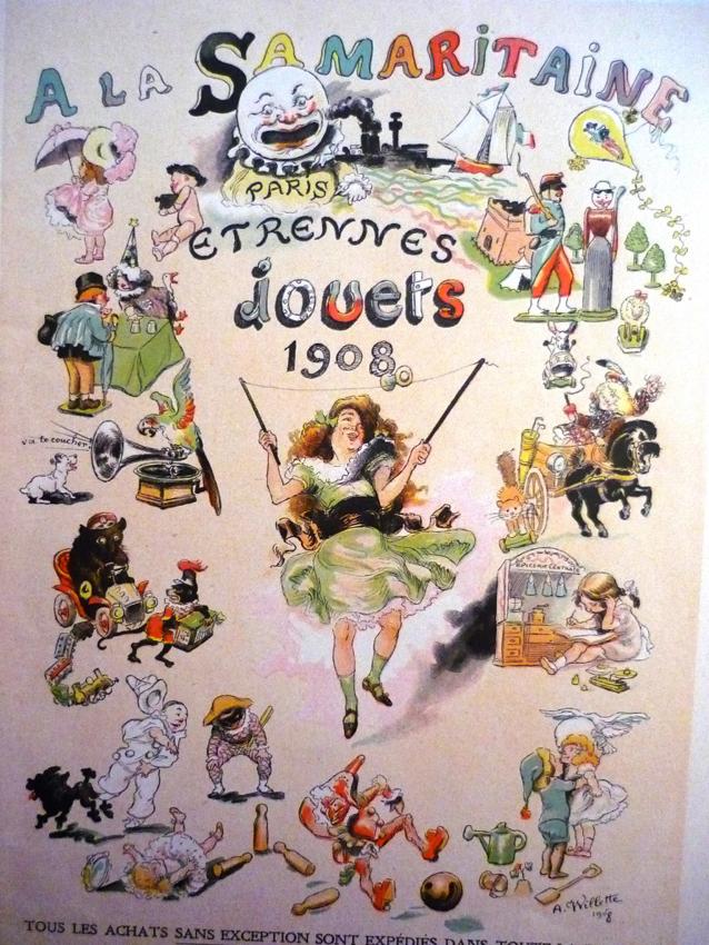 a la samaritaine trennes jouets 1908 lithographie en couleurs