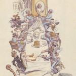adolphe willette menu reproduit dans le courrier franais no405 octobre 1902 p3