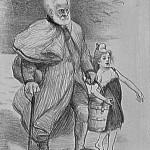 comme jean valjean aidait cosette victor hugo a aid la jeune marianne lithographie paru dans la plume le 15 juillet 1893