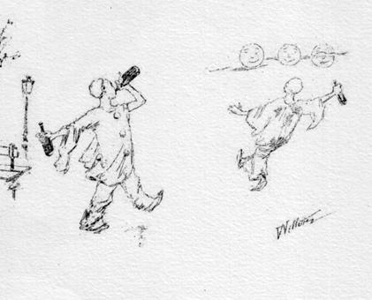willette pauvre pierrot pomes en images paris lon vanier 1887 dtail dune planche 1