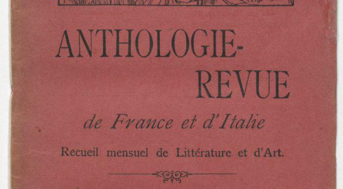 Écrivains et artistes italiens dans les revues de langue française (1880-1940) – Paris, 10 novembre 2017
